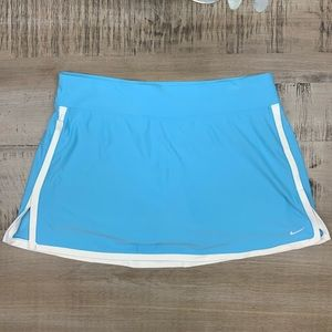 Nike Fit Dry Tennis Skirt blue white border Large